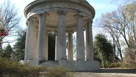 The-Camera-Slowly-Pansup-The-World-War-I-Memorial-For-The-Fallen-Soldiers