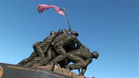 The-American-Flag-Blows-Gently-From-The-Top-Of-The-Iwo-Jima-Marine-Corps-Memorial