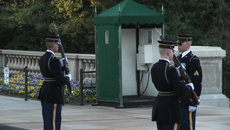 Three-Soldiers-Guard-The-Tomb-Of-The-Unknown-Soldier