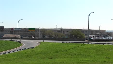 A-View-Of-The-Freeway-Near-The-Pentagon-Zoomsin-To-The-Pentagon-Building