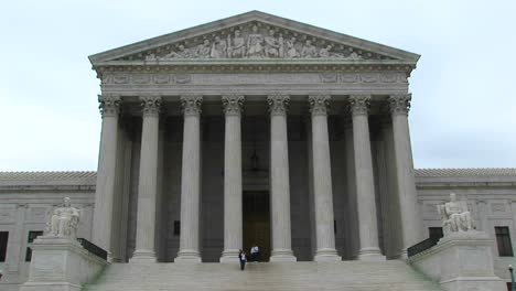 A-Panup-Of-The-Columned-Entrance-To-The-Supreme-Court