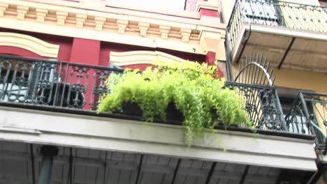 A-Wormseye-View-Of-Balconies-On-A-Brightly-Painted-Building