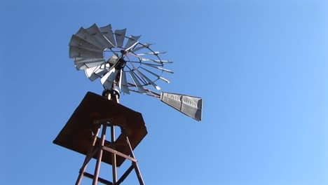 Worm-Seyeview-Of-A-Windmill-Spinning-In-The-Breeze