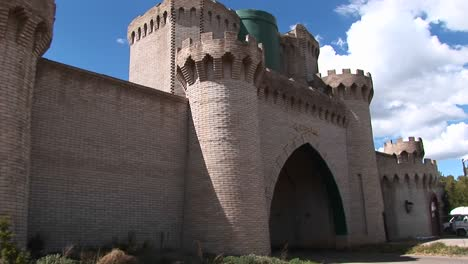 Panup-Of-The-Front-Gate-Of-A-Medieval-Castle