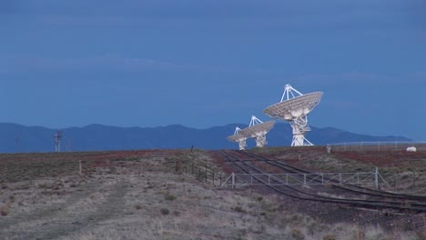 Longshot-Of-An-Array-Of-Radio-Antennas-At-The-National-Radio-Astronomy-Observatory-In-New-Mexico