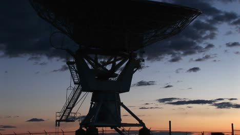 Pan-Up-Of-An-Array-At-The-National-Radio-Astronomy-Observatory-In-New-Mexico