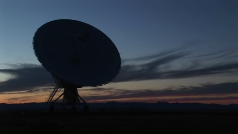 Mediumshot-Of-A-Silhouette-Of-A-Satellite-Dish-In-The-Array-At-The-National-Radio-Astronomy-Observatory-In-New-Mexico-1