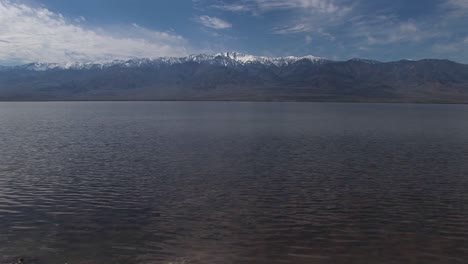 Longshot-Of-The-Badwater-Lake-And-Owlshead-Mountains-In-Death-Valley-National-Park