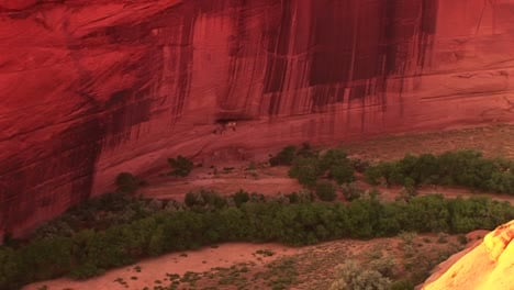 A-Zoom-Into-An-American-Indian-Dwelling-On-A-Cliff