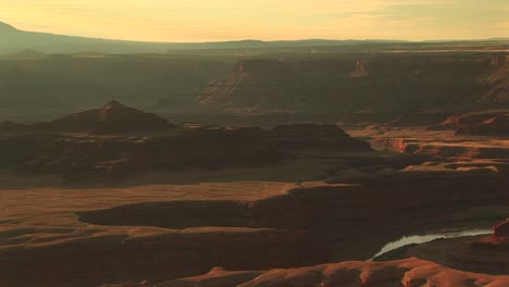 Long-Shot-Of-The-Colorado-River-Snaking-Through-Canyonlands-National-Park-From-The-Dead-Horse-Point-Overlook
