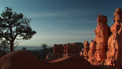 Panright-Shot-Of-Sandstone-Formations-In-Bryce-Canyon-National-Park