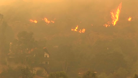 Panup-Shot-Of-Fires-Raging-Near-A-Southern-California-Community