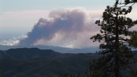 Long-Shot-Of-Smoke-Billowing-From-Wildfires-Burning-In-Southern-California
