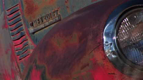 Closeup-Of-Front-End-Of-Rusted-Old-Pickup-Truck