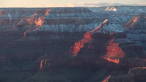 Wide-Shot-Of-The-South-Rim-Of-The-Grand-Canyon-In-Winter