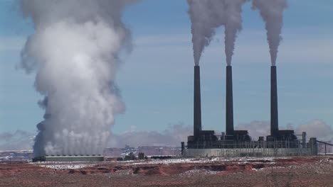 Mediumshot-Of-A-Factory-Releasing-Pollution-In-The-Arizona-Desert