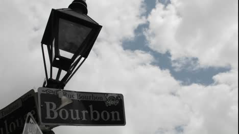 Time-Lapse-Shot-Of-Bourbon-Street-Sign-In-New-Orleans-Louisiana-1