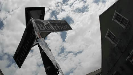 Time-Lapse-Shot-Of-Bourbon-Street-Sign-In-New-Orleans-Louisiana-2