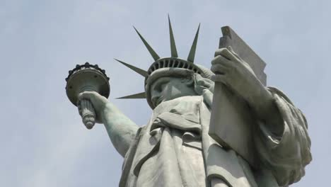 Time-Lapse-Tilt-Up-Of-Clouds-Behind-The-Statue-Of-Liberty-In-This-Shot-Which-Says-Patriotism-And-Patriotic-Values-1