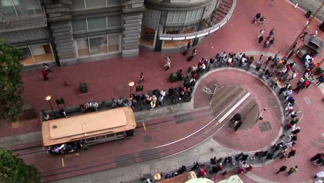 Timelapse-over-a-cable-car-station-in-San-Francisco