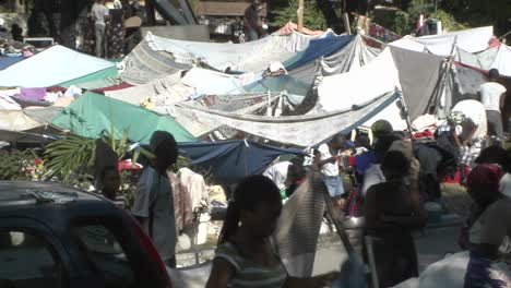 Tent-cities-and-refugee-camps-spring-up-all-over-Haiti-following-a-massive-earthquake