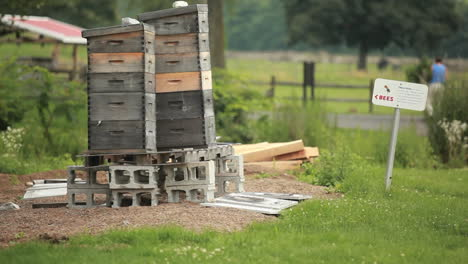 Old-boxes-stacked-outside-a-community-garden
