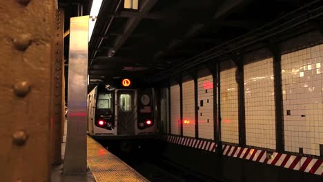 A-subway-train-pulls-out-of-a-station-in-New-York-City
