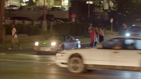 Protestors-chant-and-march-through-Ferguson-Missouri-during-rioting-there