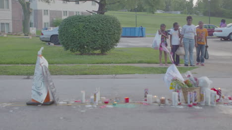 A-makeshift-memorial-for-Michael-Brown-in-Ferguson-Missouri