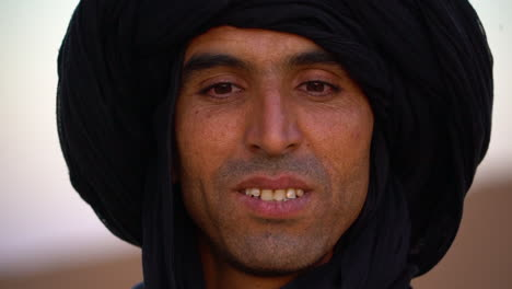 A-Muslim-Touareg-man-poses-for-a-portrait-in-Morocco