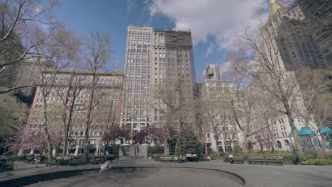 POV-slow-mo-shot-of-empty-parks-and-open-areas-of-New-York-Manhattan-during-the-Covid19-coronavirus-epidemic-outbreak-1