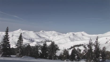 Panright-across-snowcovered-rugged-mountains