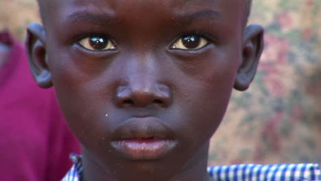 Closeup-shot-of-a-beautiful-young-child-in-Africa