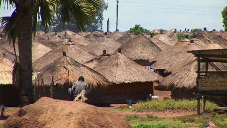 Huts-stand-in-a-refugee-camp-in-Northern-Uganda