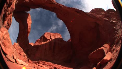 A-fisheye-view-of-Double-Arch-in-Arches-National-Park-Utah