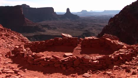 Medium-shot-of-an-ancient-Indian-campground-in-Canyonlands-National-Park