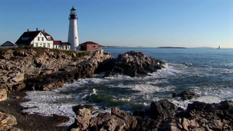 The-Portland-Head-Lighthouse-oversees-the-ocean-from-rocks-in-Maine-New-England-5