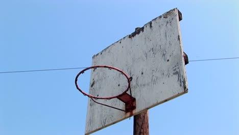 An-old-basketball-hoop-
