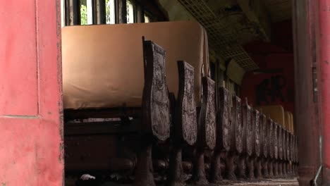 Passenger-seats-in-an-abandoned-railcar-