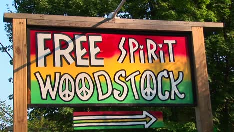 A-multicolored-Woodstock-sign-in-Woodstock-New-York
