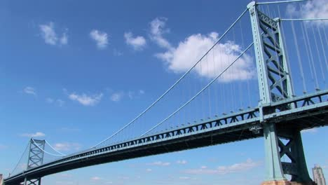 A-time-lapse-of-clouds-moving-over-the-Ben-Franklin-Bridge-which-leads-to-Philadelphia-Pennsylvania-