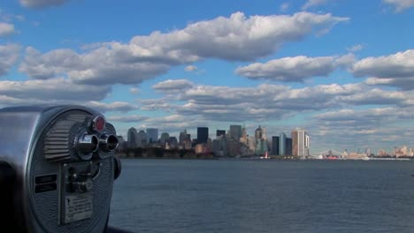 Clouds-move-over-New-York-Harbor-in-New-York-City-NY