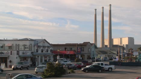 The-town-of-Morro-Bay-in-California-with-industrial-smokestacks-in-background-1