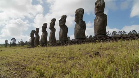 Tilt-up-to-the-mysterious-and-wondrous-Easter-Island-statues