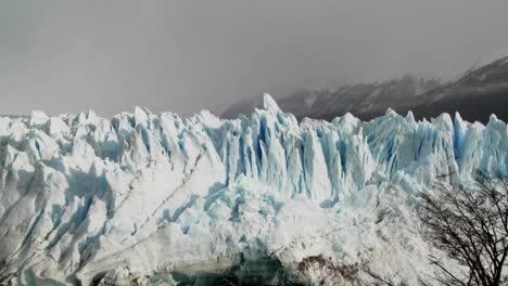 Pan-across-a-tops-of-a-vast-glacier