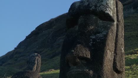 Giant-half-carved-faces-stand-at-the-quarry-on-Easter-Island