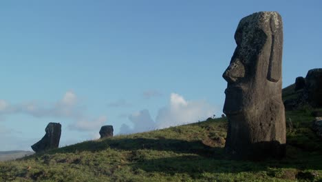 Unfinished-statues-stand-at-the-quarry-on-Easter-Island