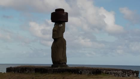 A-time-lapse-of-clouds-moving-behind-an-Easter-Island-statue
