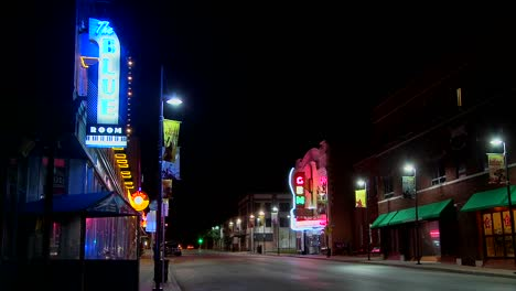 A-night-shot-of-an-empty-street-in-small-town-America