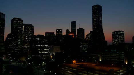 The-Houston-skyline-just-after-sunset